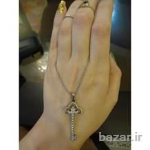 گردنبند طرح Tiffany-co امریکا نقره با روکش طلا سفید
